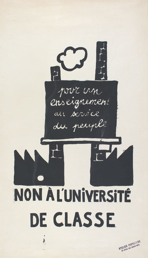 Image 3 from the exhibition Protest Posters from the Atelier Populaire de l'École des Beaux-Arts
