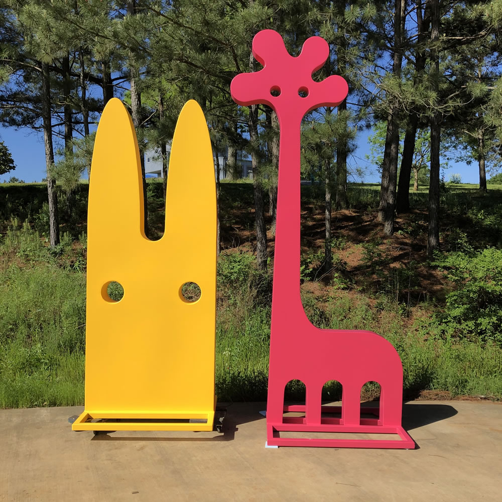 Jeffie Brewer (born 1971). Bunny, 2019. Gigaff, 2019. Dimensions vary. Painted steel. Courtesy of the artist.