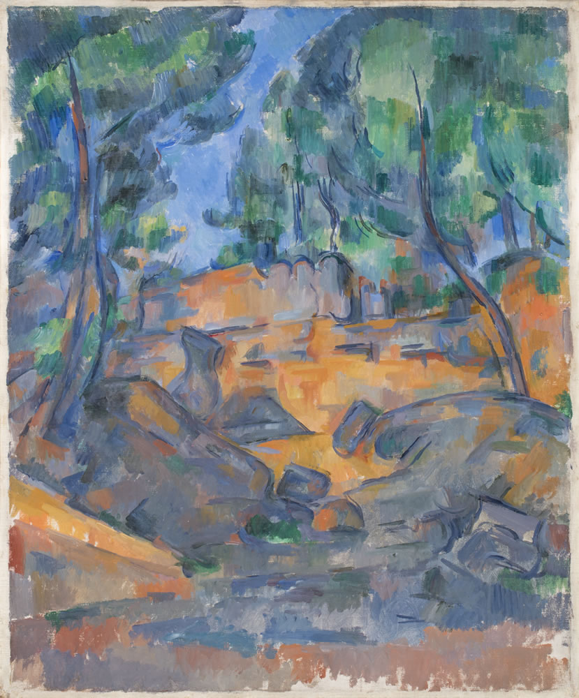 Paul Cézanne (French, 1839-1906) Trees and Rocks near the Château Noir, ca. 1900-06 Oil on canvas 24 3/8 x 20 ¼ inches Collection of the Dixon Gallery and Gardens; Museum purchase from Cornelia Ritchie and Ritchie Trust No. 4, 1996.2.20