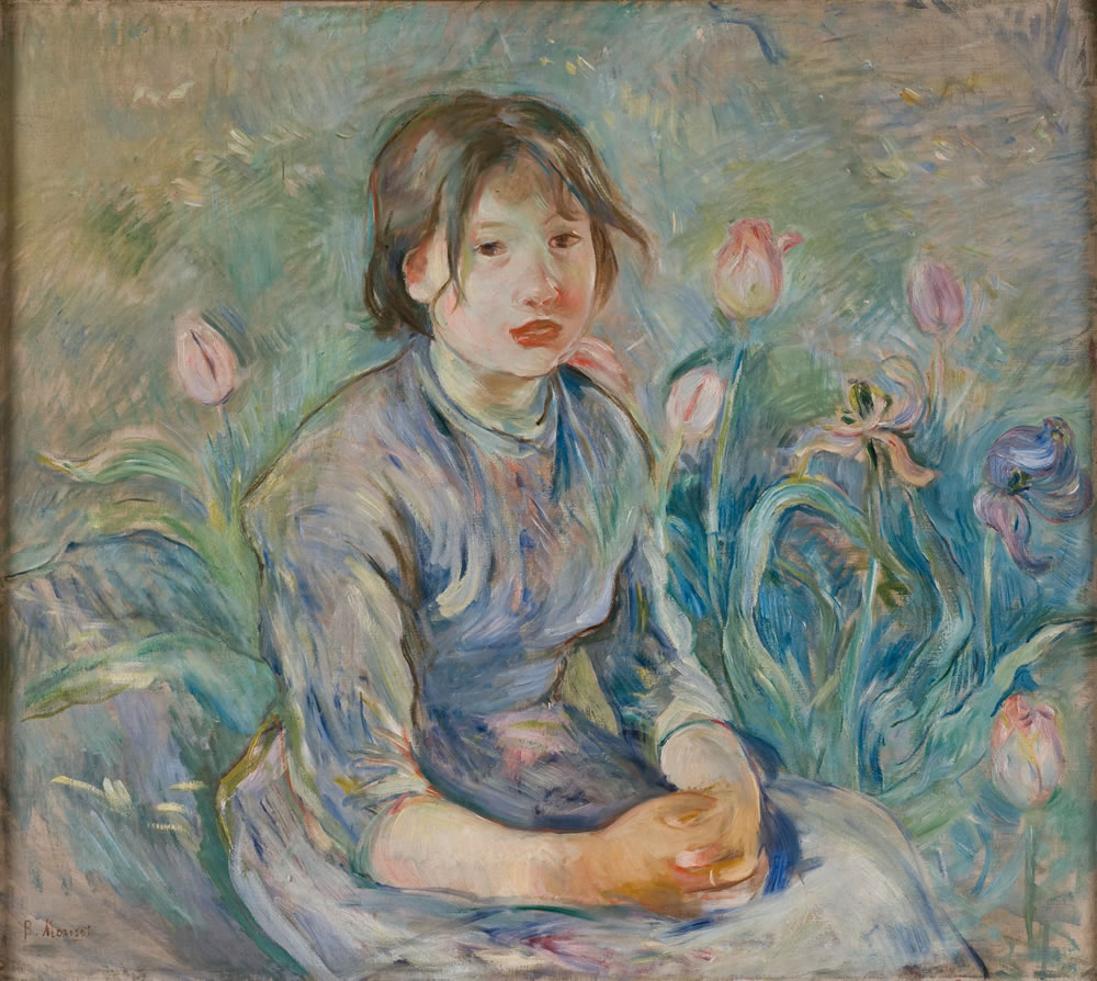 Berthe Morisot (French, 1841-1895) Peasant Girl among Tulips, 1890 Oil on canvas 25 ¾ x 28 5/8 inches Collection of the Dixon Gallery and Gardens; Museum purchase, 1981.1