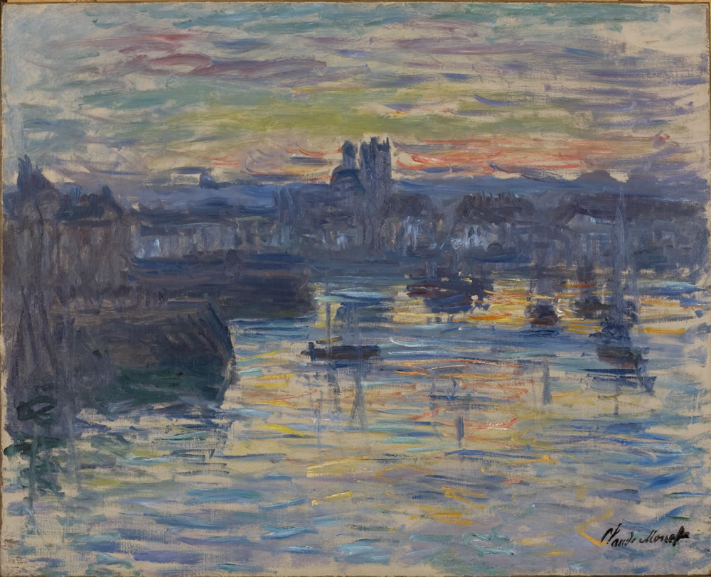 Claude Monet (French, 1840-1926) Port of Dieppe, Evening, 1882 Oil on canvas 23 x 28 3/8 inches Collection of the Dixon Gallery and Gardens; Gift of Montgomery H.W. Ritchie, 1996.2.7