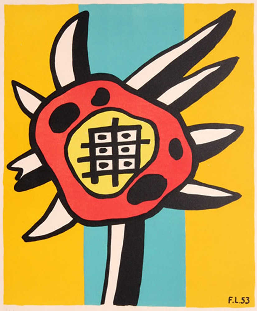Fernand Léger (French, 1881-1955), Le Tournesol (The Sunflower), 1953. Lithograph, 13 x 15 1/2 inches. Artis—Naples, The Baker Museum. 2007.4.046. Museum purchase from the Dr. Robert B. and Dorothy Gronlund Collection.