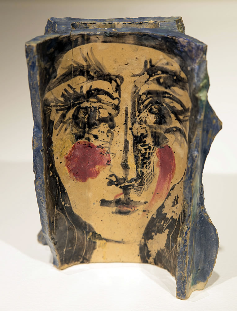 Pablo Picasso (Spanish, 1881-1973) Untitled (Portrait of Jacqueline), 1962 Ceramic tile fragment 8 ¾ x 6 ½ inches Artis—Naples, The Baker Museum. 2013.1.155. Gift of Olga Hirshhorn.