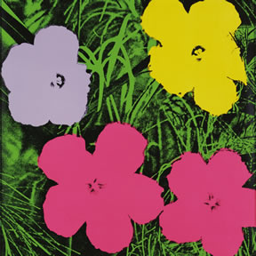 Andy Warhol (1928 – 1987). Flowers, 1970. Portfolio of ten screenprints on paper, 28/250. Bank of America Collection.