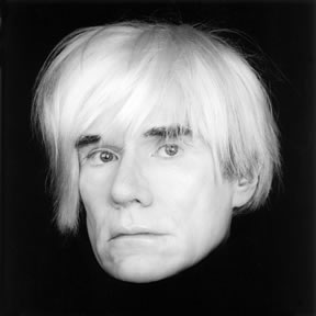 Robert Mapplethorpe (1946 – 1989). Andy Warhol, 1986. Gelatin silver print. Bank of America Collection.