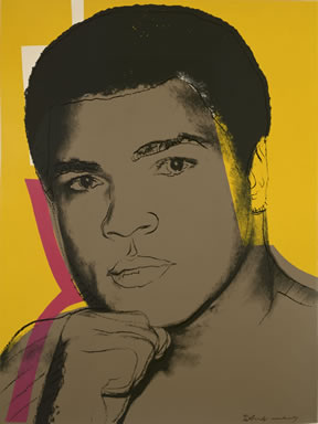 Andy Warhol (1928 – 1987). Muhammad Ali, 1978. Portfolio of four screenprints on Strathmore Bristol paper, 45/150. Bank of America Collection.