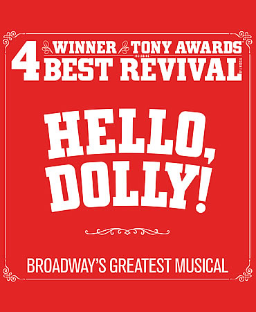 Promotional poster for the Broadway production of Hello Dolly