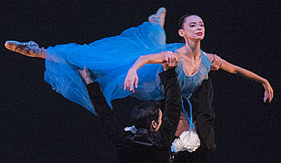 Image of Miami City Ballet on stage during performance