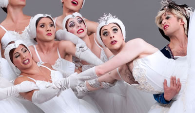 Image of Les Ballets Trockadero de Monte Carlo on stage during performance