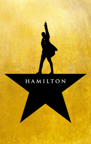 Promotional poster for the Broadway production of Hamilton